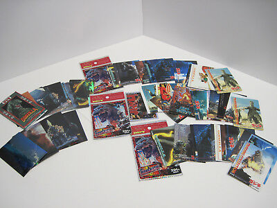Lot of 50+ Godzilla Trading Cards Including Chromiums 1995 1996
