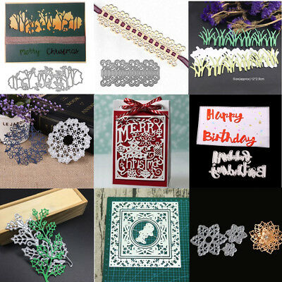 Metal Cutting Die Stencils Scrapbooking Steel Craft Die Cut Embossing Flower Set