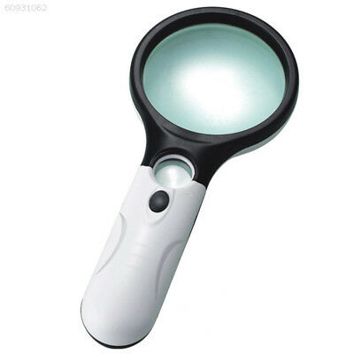 7CC0 3 LED Light 45X Handheld Magnifier Magnifying Glass Jewelry Loupe Read Jewe