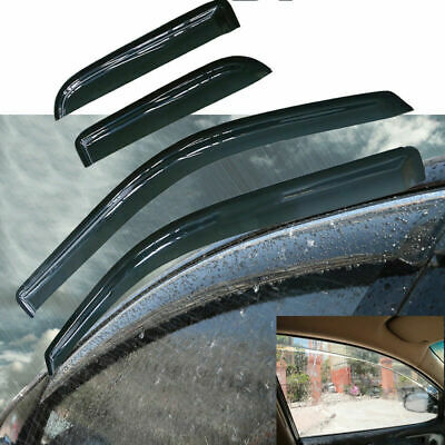4x Vent Window Shade Visor Guard Tape-On For Ford F-150 Extended Super Cab 04-14