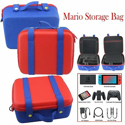 Mario Accessories Storage Carry Bag Protective Case Large for Switch Switch NS