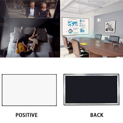 B733 16:9 84inch Projector Curtain Projection Screen Home Cinema Lobbies KTV