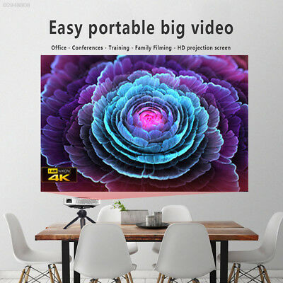 0EE0 4:3 Fabric Projector Curtain Projector Screen Presentation Collapsible