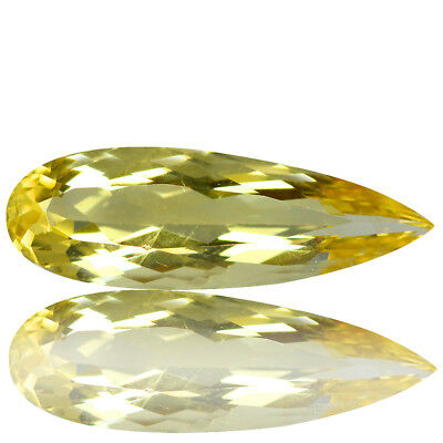 4.32 Ct Excellent!! Luster Top Rich Fire Natural Yellow Beryl