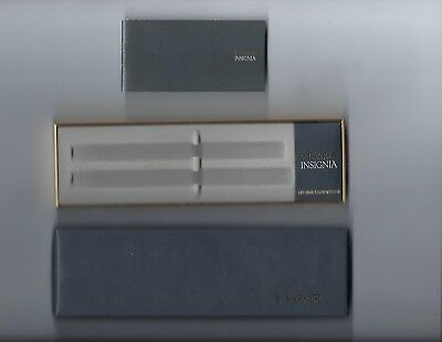 Vintage Parker Insignia 2 Slot Pen set Empty Gift Box New W/Papers
