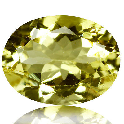 5.70 Ct Excellent!! Luster Top Rich Fire Natural Yellow Beryl