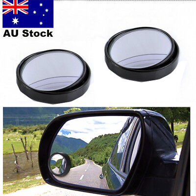 2PCS Car Rearview Mirror Small Round Blind Spot Mirror 360° Rotating Wide Sight