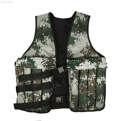 7290 20KG/44LBS Camo Adjustable Weighted Vest Workout Training Jacket Fitness