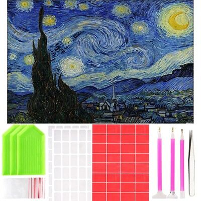 5D Starry Sky Diamond Painting DIY Craft with Tools Kit Home Wall Decor 40*50cm