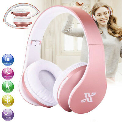 Bluetooth Wireless Stereo Headphones Over Ears 4 in 1 Multi-Function Rose Gold