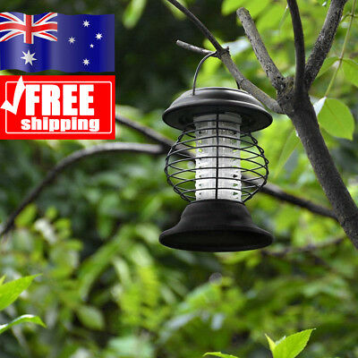 Waterproof Solar Powered UV Lamp Light Fly Insect Bug Mosquito Zapper Killer AU