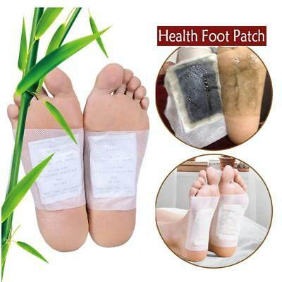 10pcs Bamboo Vinegar Foot Patches Improve Insomnia Remove Dampness Foot Care