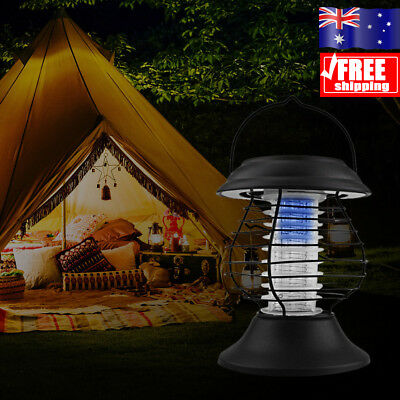 Solar Rechargeable Portable Outdoor Mosquito Fly Bug Insect Zapper Killer Lamp