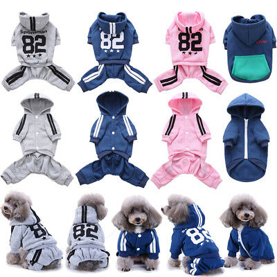Pet Dog Puppy Hoodie Clothes Costume Jumpsuit Coat Jacket Sweater Winter Apparel