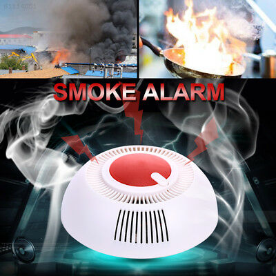 49C9 Smoke Sensor Fire Alarm Independent ABS 85dB Security Accessories