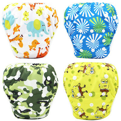 Reusable Swim Nappy Pant Diaper Newborn Baby Toddler Swimming Boy Girl Cute