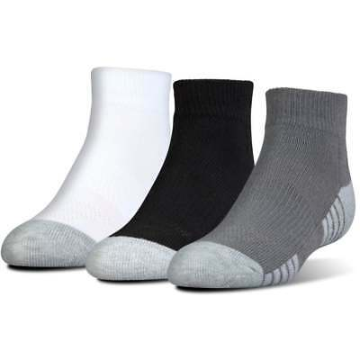 Under Armour Junior HeatGear Tech Lo Cut Socks 3-Pack