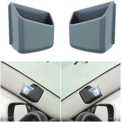 2x Auto Car Storage Pouch Bag Phone Holder Box Adhesive Organizer Glasses Case