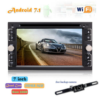 """6.2"""" Android 7.1 Double 2Din InDash Car DVD Radio Stereo Player WiFi 4G GPS CAM"""