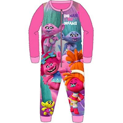 Girls Trolls All In One Piece Character Childrens Pyjamas Ages 4-10