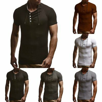 Summer Casual Men's Slim T Shirt Fit Mens Top Tees Short Sleeve Male Tops