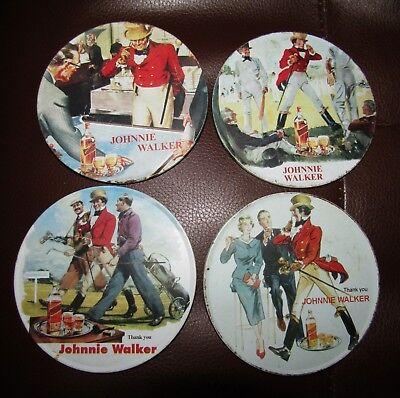 Johnnie Walker Scotch Whisky Original Set Of Coaster