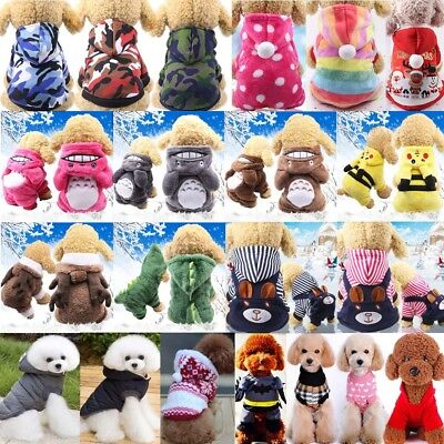 Pet Dog Cat Puppy Sweater Hoodie Coat For Small Pet Dog Warm Costume Apparel Lot