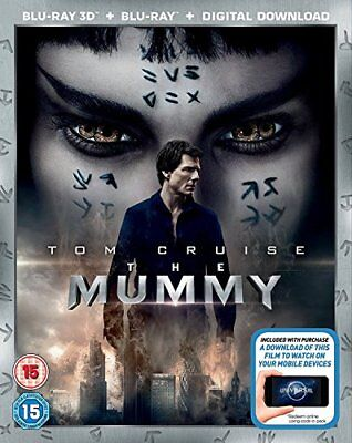 The Mummy (2017) 2D + 3D BD + Digital Download [Blu-ray] [DVD][Region 2]