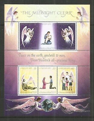 Christmas Island 1980 Christmas Sheetlet Sg,130-135 U/m Lot L389