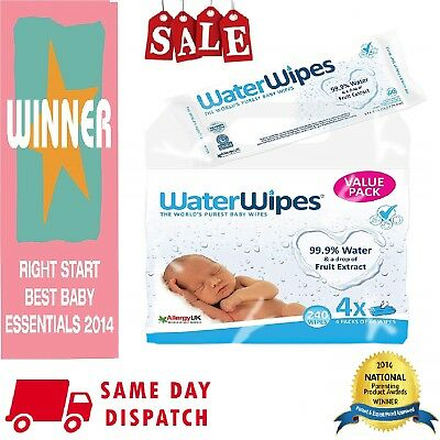Water Wipes Natural Sensitive Skin Chemical Free Wipes 240 540 720 or 1080 Wipes