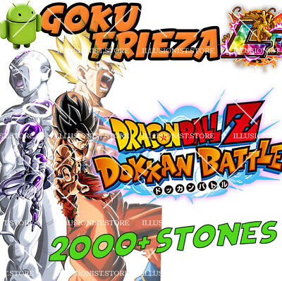 🌟Android - Dokkan Battle - Goku&Frieza LR with 2000+ Dragon Stones - Global