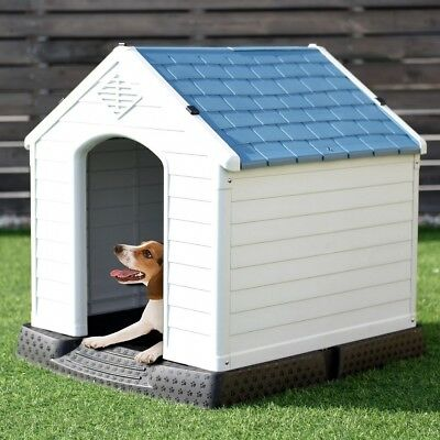 Plastic Dog House Pet Puppy Shelter Waterproof Indoor Outdoor