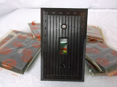 Brown Bakelite Wall Switch Plate Vintage NOS Switchplate Art Deco single gang