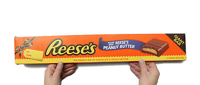 The Largest Bar Of Reese's Chocolate In The World! 55Cm Giant Over Half A Kilo!