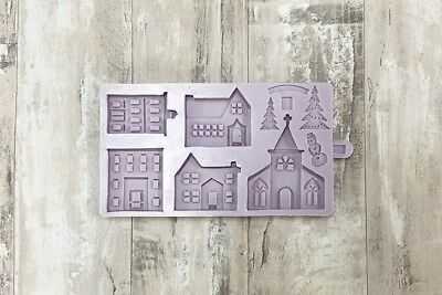 Karen Davies Winter Village Sugarcraft Mould   Cake decorating Christmas
