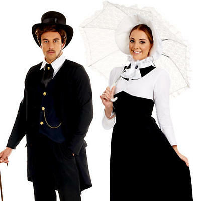 Victorian Adults Fancy Dress Historical Edwardian Book Day Mens Ladies Costume