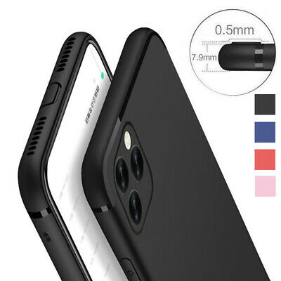 For Apple iPhone 11 Pro XS Max X XR Soft Silicone Rubber TPU Thin Gel Case Cover