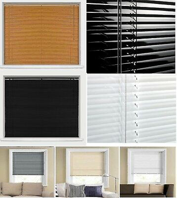 PVC 25mm SLATS VENETIAN WINDOW BLIND CURTAINS BLINDS BLACK CREAM WHITE TEAK