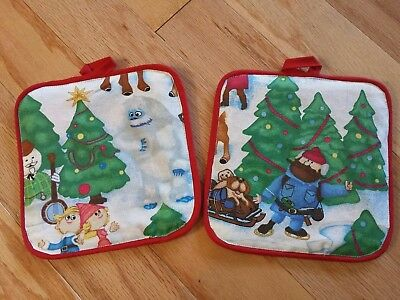 Rudolph the Red Nosed Reindeer Bumble Yukon Cornelius Christmas PotHolders