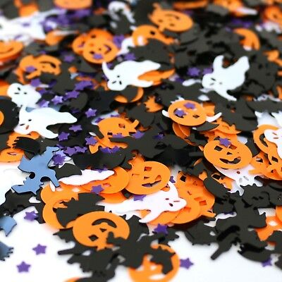 Halloween Spooky Confetti With Bats, Ghosts, Pumpkins, Witches & Stars - 14g