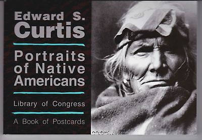 EDWARD S. CURTIS - Portraits of Native Americans ... a book of 30 B&W postcards