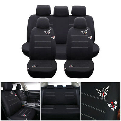 5 Seats Car SUV Van Seat Cover Front & Rear Full Cushion Surround Universal New