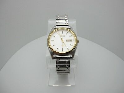 Vintage Seiko Quartz 3 Jewels Analog Dial Casual Day/Date Watch (A787)