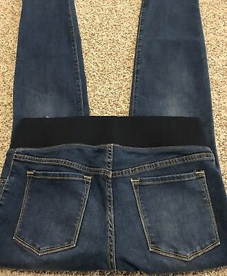 Women's Old Navy Maternity Jeans Distressed Skinny Stretch Size 8 Actual 33x31