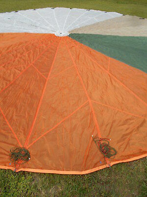 C-9 Military Parachute w/Lines cut at links
