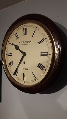 Antique English Round Dial Station Public Wall Dial Clock