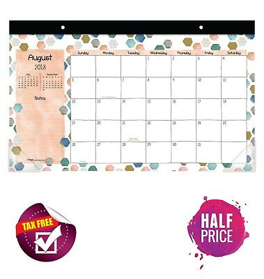 Academic Year 2018 2019 Desk Pad Calendar Compact Monthly Planner