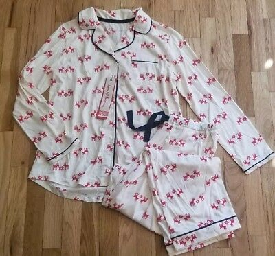 Nwt Love, Hanna Andersson Women's Pima Cotton Pj Pajamas Set Dear Deer S 4 6
