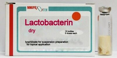 Lactobacterin dry antibacterial naturally body stomach bottles 5dose 10pc Russia
