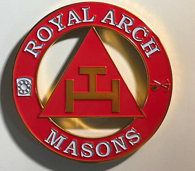 Mason Masonic Triple Tau Cut Out Car Emblem-New!